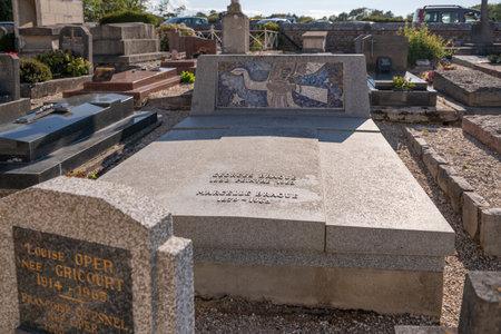 VARENGEVILLE-SUR-MER, FRANCE - JUNE, 11, 2020: Grave of Georges Braque in Varangeville sur mer, France Editorial