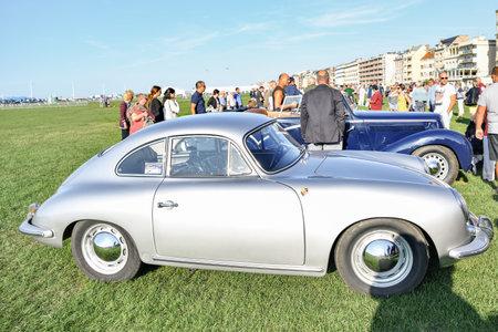DIEPPE, FRANCE - SEPTEMBER 01, 2018: Retro car Porsche The oldtimer show in Dieppe Editorial