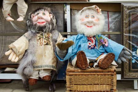 Russian handmade brownies or elfs with the beards