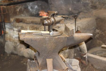 ferrous foundry: Blacksmiths Anvil Stock Photo
