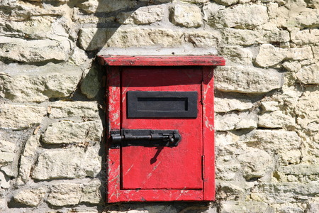 red post box: Red post box traditional