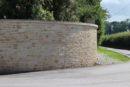 Curvada piedra ladrillo / albañilería Foto de archivo - 58969388