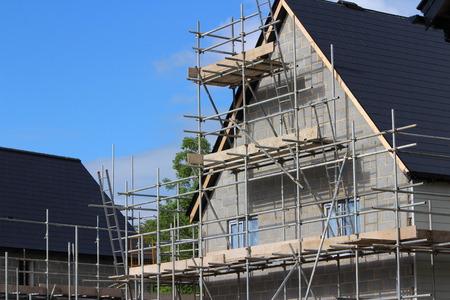english house: English house under construction