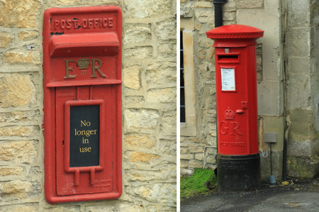 letter box: Red letter box, England Stock Photo