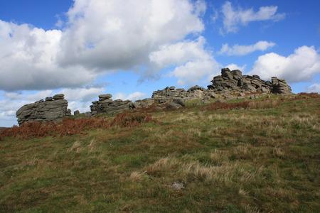 devon: Dartmoor Tor, Devon, UK Stock Photo