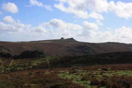 devon: Dartmoor Countryside View, Devon Stock Photo