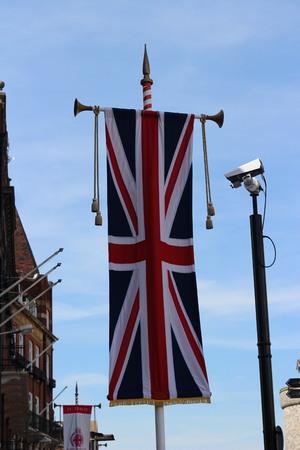 brit: British Flag on Pole
