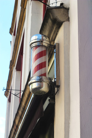 Mens Hairdressers Barber Pole