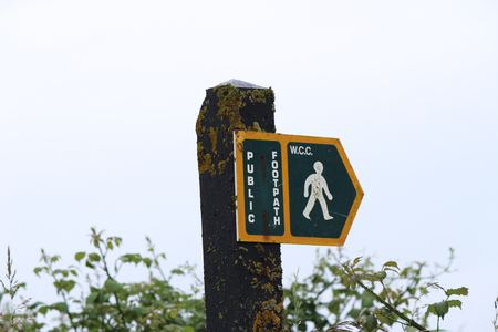 British Footpath Sign