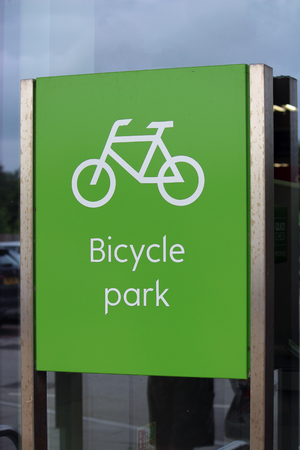 bike parking: Bicycle Park (Bike Parking) Stock Photo