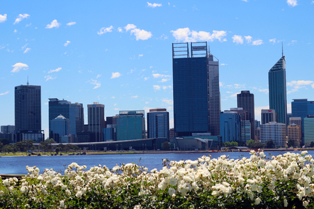 in wa: View of Perth City Skyline, WA
