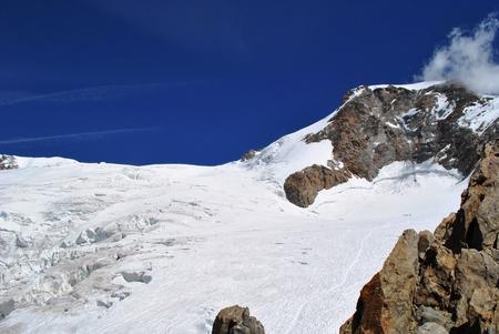 serac: lys glacier on monte rosa