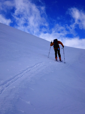 swiss alps: ski mountaineering in swiss alps