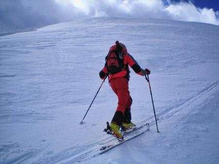 alpinist: ski mountaineering in swiss alps