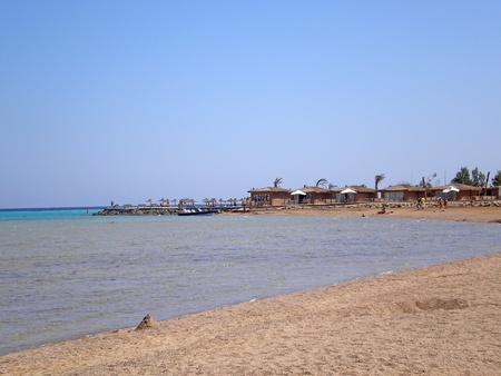bungalow en la playa de Makadi, Egipto photo