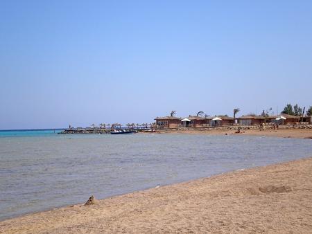 bungalow on the beach of makadi, egypt photo