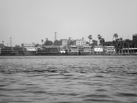 cruising ships on river nile in luxor