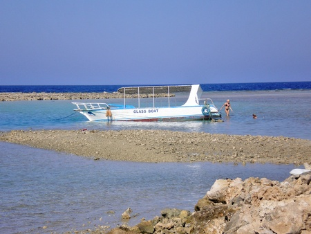 glass boat in Red Sea near Makadi Stock Photo - 12222022