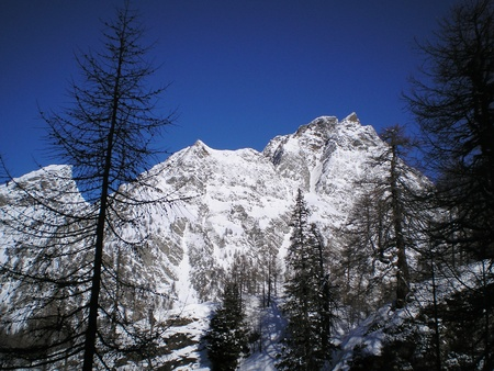 view of alpe devero during winter Stock Photo - 12610889