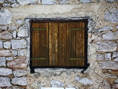 window of an old chalet photo