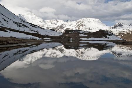 small lake  at Simplon pass, Switzerland photo