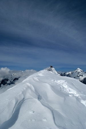 view of matterhorn from the summit of western breithorn photo