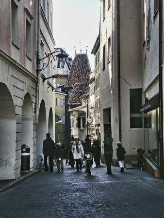 meran: narrow street in meran downtown Editorial