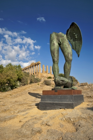 igor mitoraj sculpture in agrigento photo