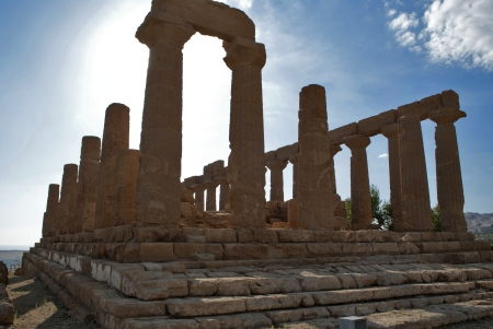 agrigento: Heras temple in agrigento Stock Photo