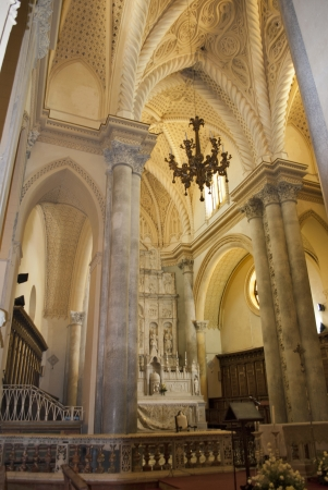 erice: altar of the cathedral of erice
