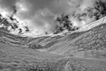 Saas Fee: trift glacier climbing weissmies in switzerland