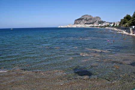 atilde: the coast near cefal in sicily Stock Photo