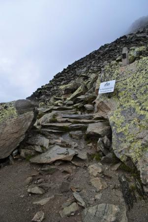 aletsch: alpin track around aletsch glacier Stock Photo