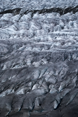 crevasses on the surface of aletsch glacier photo