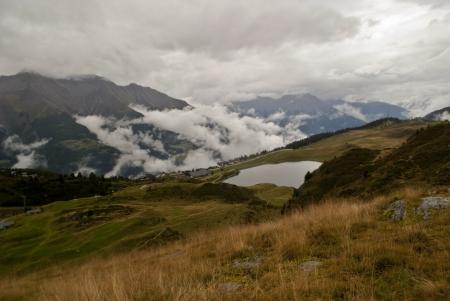aletsch: view of bettmeralp in swiss alps