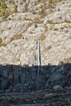 aletsch: hanging bridge on aletsch glacier
