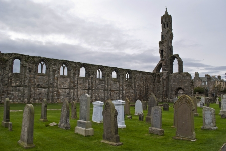 andrews: ruins of the cathedral of saint andrews in scotland