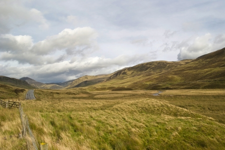 road across the Highlands in Scotland during autumn Stock Photo - 18710695