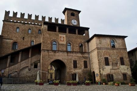 piacenza: medieval palace in castellarquato near piacenza