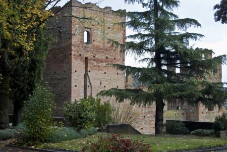 piacenza: medieval castle of castellarquato near piacenza