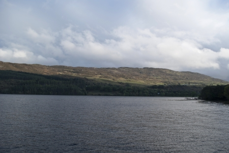 loch ness: lake of loch ness in fort augustus in scotland