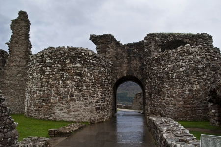 gate of the urquhart castle in scotland