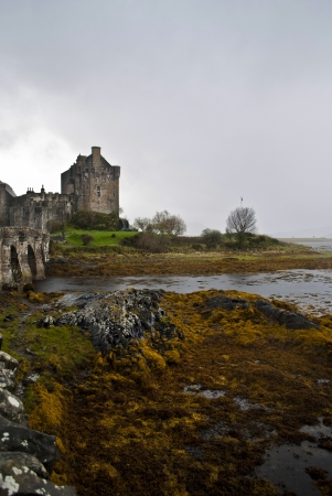 eilean donan castle in scotland during autumn
