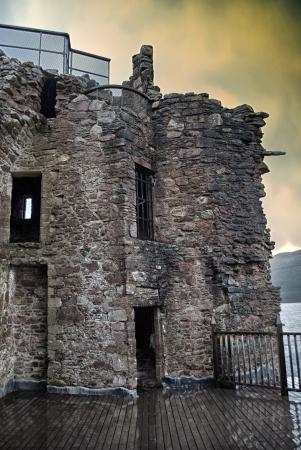 loch ness: urquhart castle on loch ness in scotland