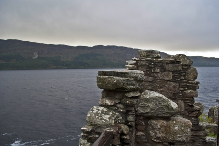 loch ness lake from the ruin of the urquhart castle photo