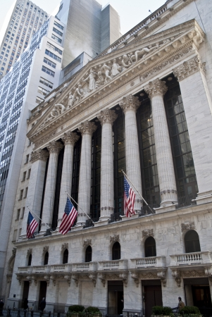 the new york stock exchange in wall street