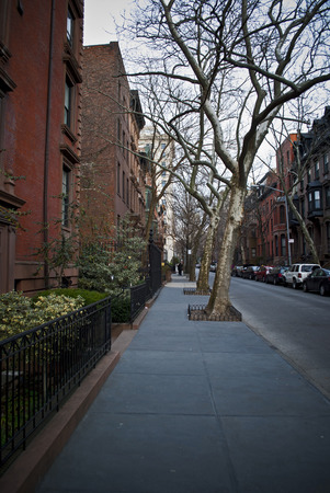 heights: view of a brooklyn heights road in new york Stock Photo