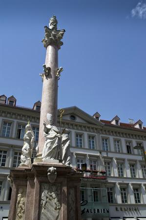 innsbruck: monument in the main square of innsbruck