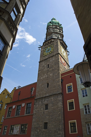 civic: the civic tower in innsbruck old town