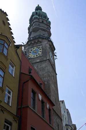 civic: the civic tower in innsbruck in austria Stock Photo